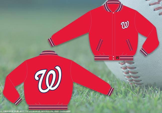 Washington Nationals Red Mlb Wool Reversible Jacket