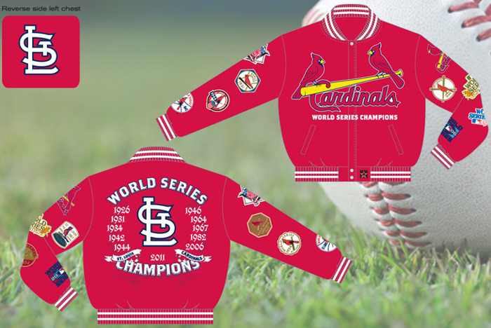 87d03df056d St. Louis Cardinals / World Series Champions - MLB Wool Reversible Jacket.  More images.