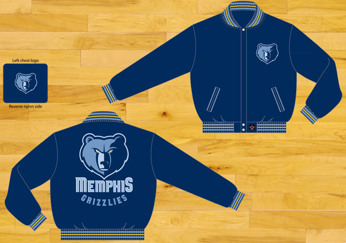 on sale 7c797 c4ddd Memphis Grizzlies - NBA Wool Reversible Jacket. More images.