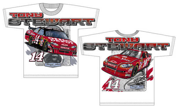 14 tony stewart office depot old spice total print t for Office depot shirt printing