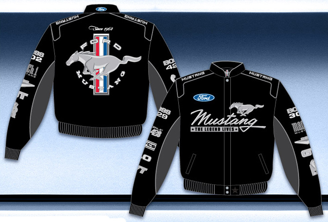 ford mustang collage twill jacket. Black Bedroom Furniture Sets. Home Design Ideas