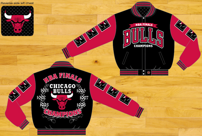 Chicago Bulls / NBA Finals Champions - Wool Reversible Jacket