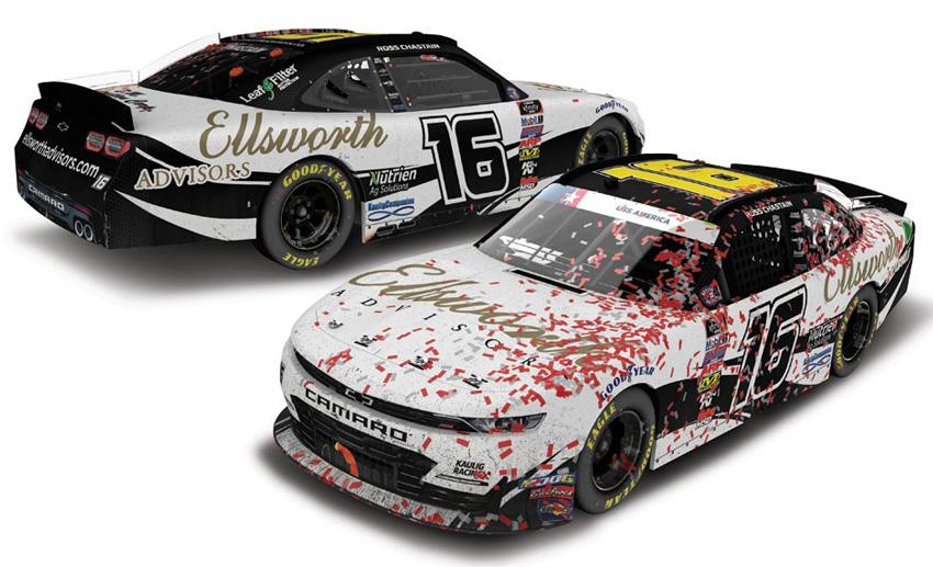 NASCAR 2019 ROSS CHASTAIN #16 DAYTONA RACE WIN ELLSWORTH ADVISORS 1//24 CAR