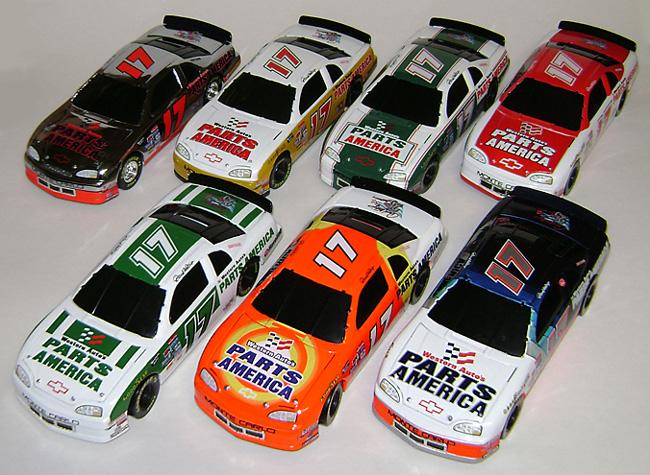 1997 Darrell Waltrip 17 Parts America 25th Anniversary 7 Car