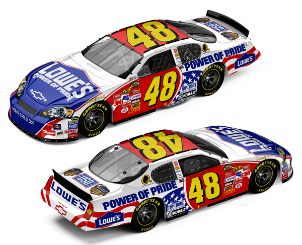 jimmie johnson 48 car. Jimmie Johnson #48 Lowes - USO