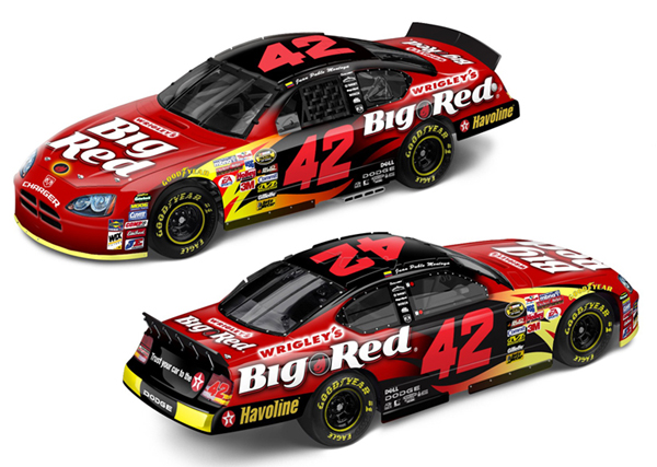 2007 juan pablo montoya 42 big red 1 64 diecast p51 for Big red racing