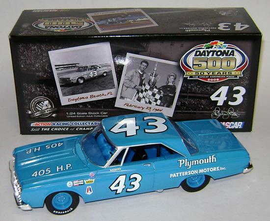 Richard Petty Motorsports >> 1964 Richard Petty #43 Plymouth / Daytona 500 50th Anniv. Diecast