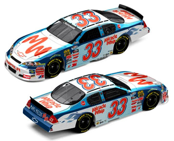 2010 kevin harvick 33 miracle whip diecast autographed. Black Bedroom Furniture Sets. Home Design Ideas