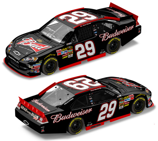 2011 Kevin Harvick #29 Budweiser Diecast