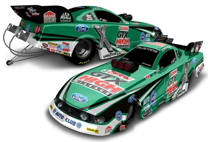 2012 John Force Castrol Gtx Nhra Funny Car Diecast