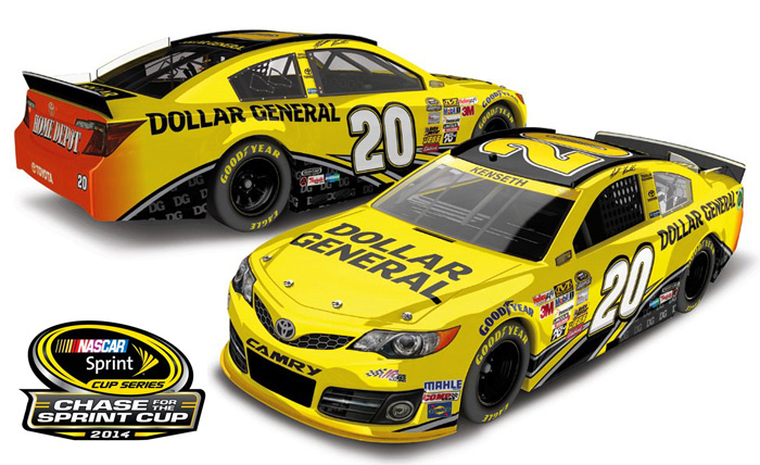 Nascar Driver Numbers >> 2014 Matt Kenseth #20 Dollar General - Chase for the ...