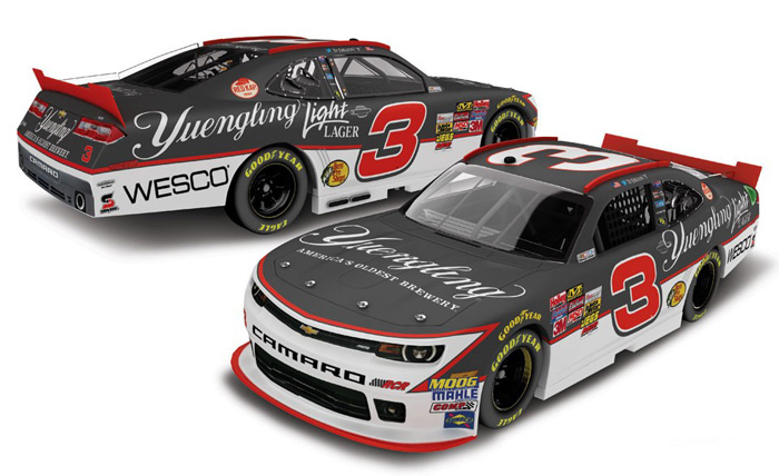 Ty Dillon 2014 #3 Yuengling Light Lionel Diecast 1:64 NASCAR Racing