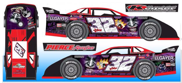 Pierce Race Cars: 2016 Bobby Pierce #32 The Joker / World 100 Champ