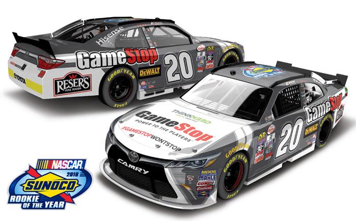 Erik Jones 2018 Sport Clips #20 Joe Gibbs Camry 1//64 NASCAR ROOKIE