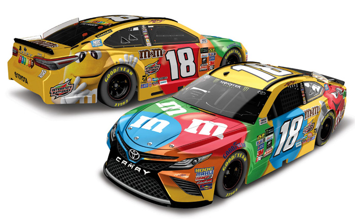 kyle busch 2017 action 1 64 18 m m 39 s toyota camry nascar monster energy diecast ebay. Black Bedroom Furniture Sets. Home Design Ideas