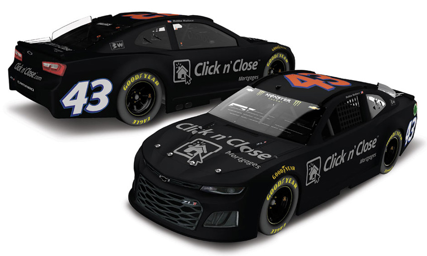 2018 Bubba Wallace 43 Click N Close Test Car Diecast