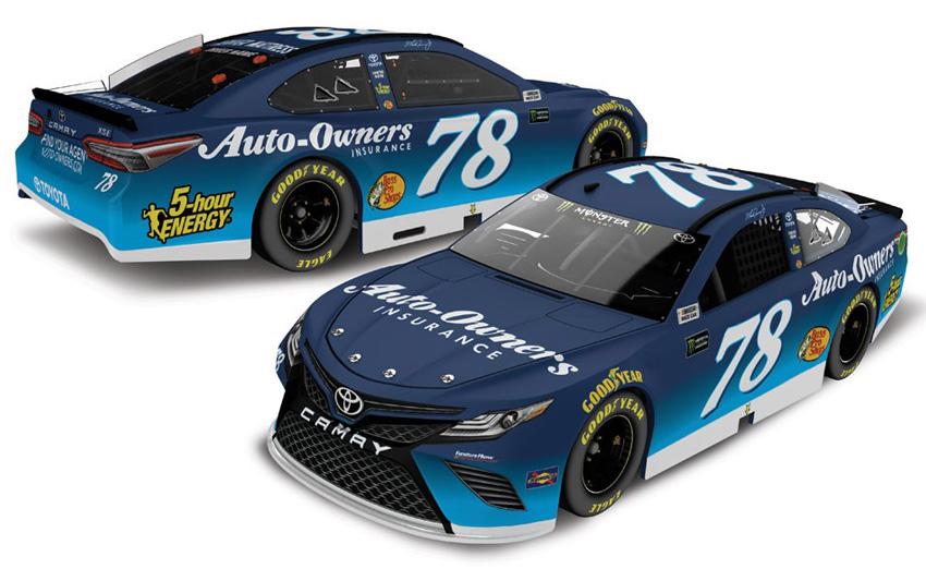 2018 Martin Truex Jr 78 Auto Owners Insurance 1 64 Diecast
