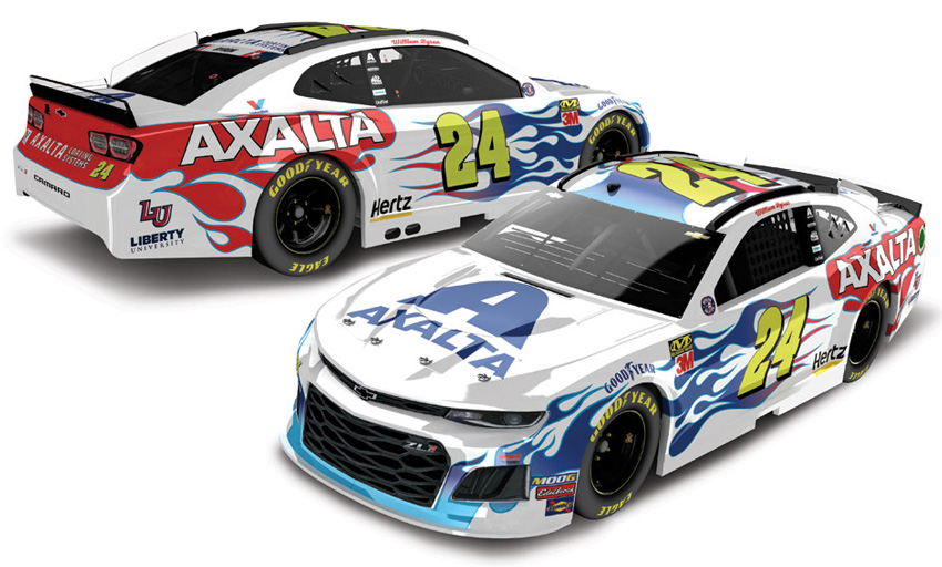 2019 William Byron #24 Axalta - Flames of Independence ...
