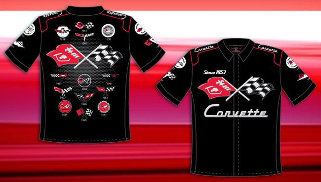 Pit Crew Shirts >> Corvette - Adult Pit Crew Shirt