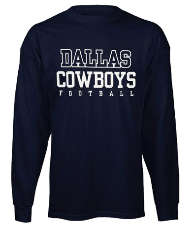 862cd19fe More images... Larger picture. Description  More Details  Specifications.  Reebok Dallas Cowboys - NFL Navy Long Sleeve Practice Tee ...