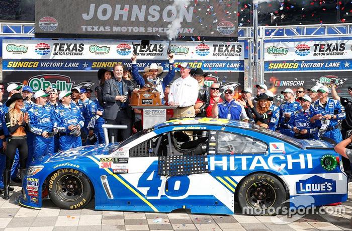 2017 jimmie johnson 48 lowe 39 s hitachi texas win raced for Nascar texas motor speedway 2017