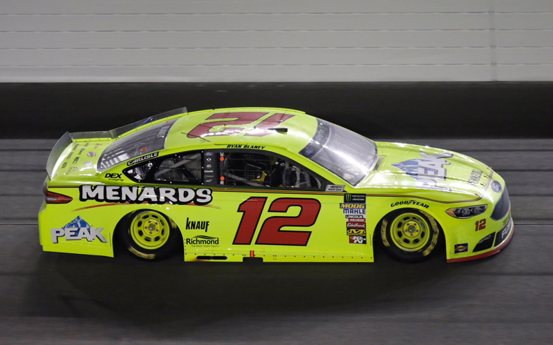2018 Ryan Blaney #12 Menards - Can-Am Duel Win / Raced Diecast