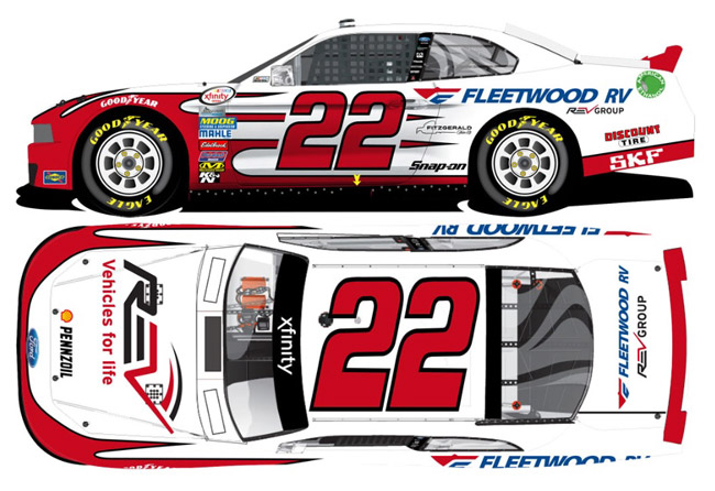 Brad Keselowski 2016 Fleetwood RV Mustang 1//64 NASCAR