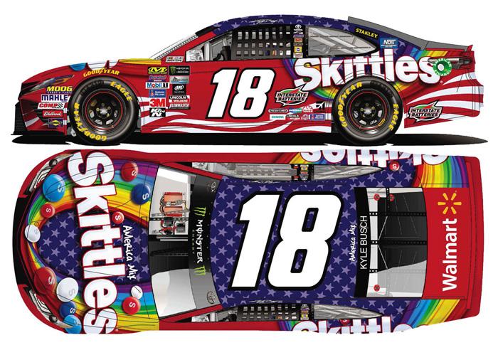 larger picture - Kyle Busch Halloween Car