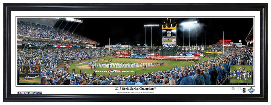 f3f40b58 More images... Larger picture. Description; More Details; Specifications.  Everlasting Images Framed Panorama Kansas City Royals 2015 World Series  Champions ...