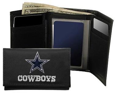 9553ccc4c Larger picture. Description  More Details  Specifications. Rico Industries Dallas  Cowboys   Tri-Fold Leather Wallet
