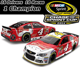 2014 Kevin Harvick #4 Budweiser - Chase for the Sprint Cup Diecast, by Action